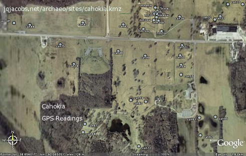 cahokia gps readings