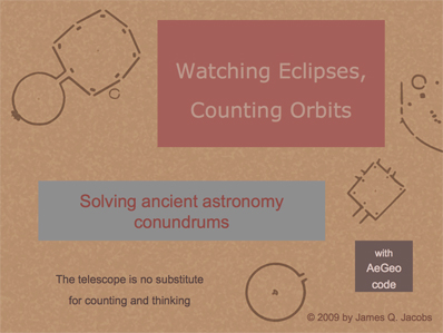 watching eclipses, counting                                   orbits powerpoint