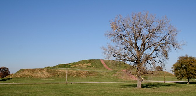 The south face of Monks Mound.