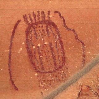 Detail of unique pictograph at Buckhorn Wash, 320 x 320 K, 30 K.