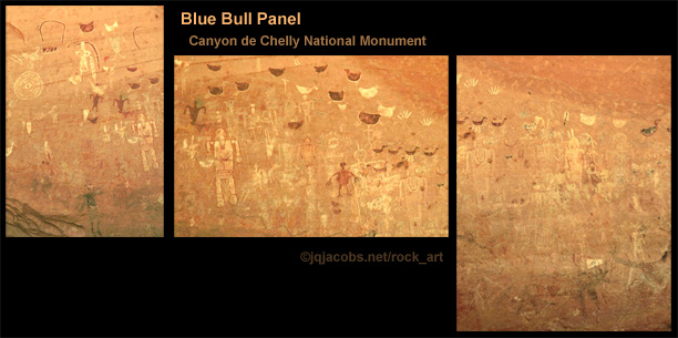 Blue Bull Panel, canyon del Muerto rock art.