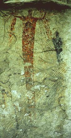 Panter Cave Pictograph, 440 x 226 pixels, 58 K.