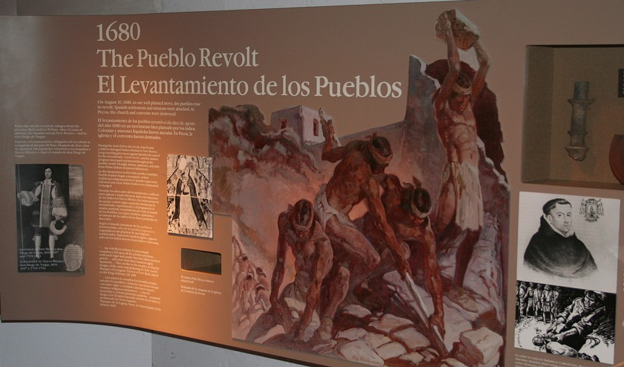 pueblo revolt of 1680 In 1680, the pueblo spiritual leader popé led a revolt against the spanish by coordinating and uniting several pueblos, the indians defeated the spanish and drove them out of the area popé, a charismatic spiritual leader who had been whipped and humiliated by the spanish, was a brilliant organizer.
